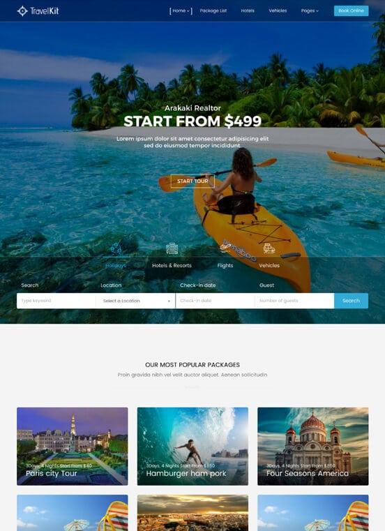 Thiết kế website du lịch, website du lich Inbound, Outbound